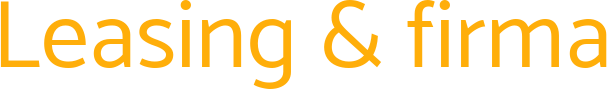 Leasing & firma